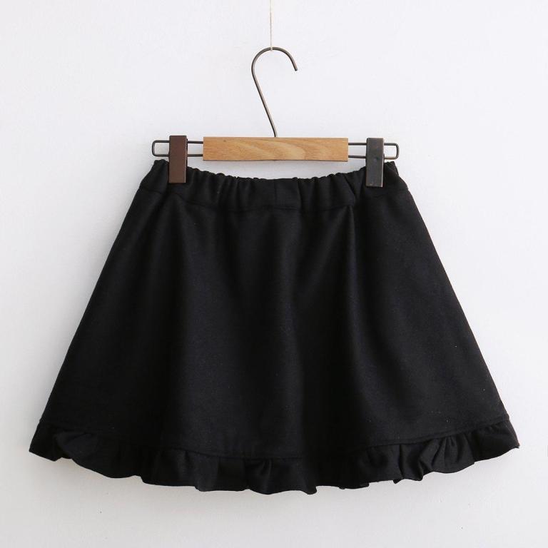 Japanese winter wool skirt