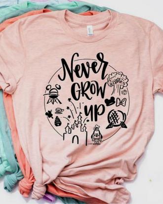 Camiseta Disney Lovers ¡no crezcas nunca!