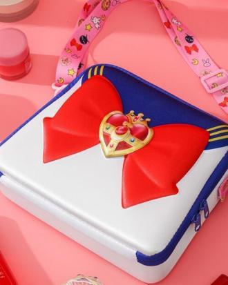 Sailor Moon-Bolso de hombro para chica, bolsa de maquillaje de gran capacidad para Cosplay, bolso de cosméticos, bolsa de viaje, regalo de Navidad