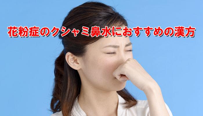 花粉症でクシャミ鼻水に悩む女性のイメージ画像