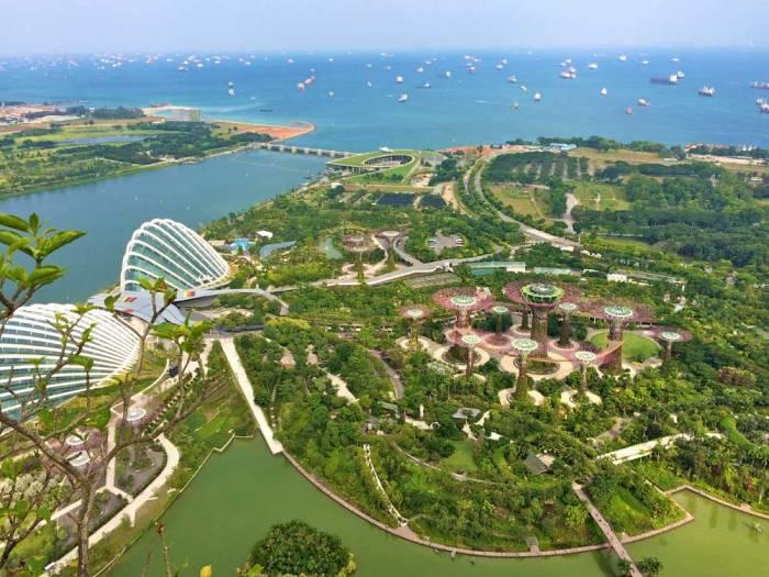 Vista aérea de Singapura