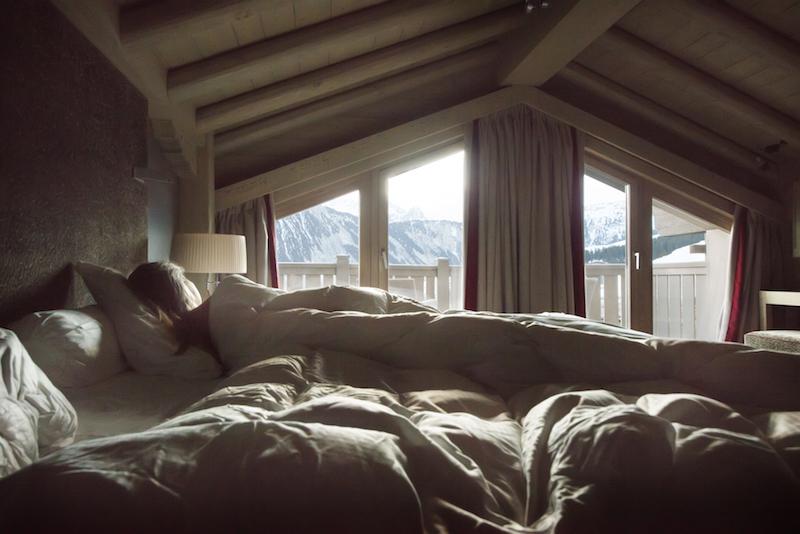 hotel de luxo de inverno nos alpes franceses