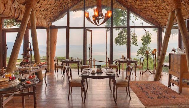 Lodge de luxo na África