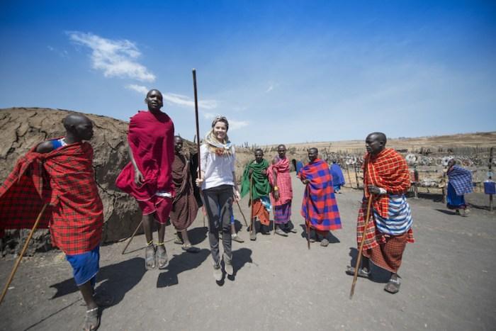 Maasais em Ngorongoro