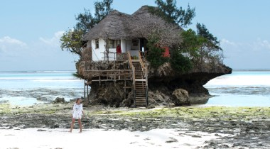 Restaurante The Rock em Zanzibar