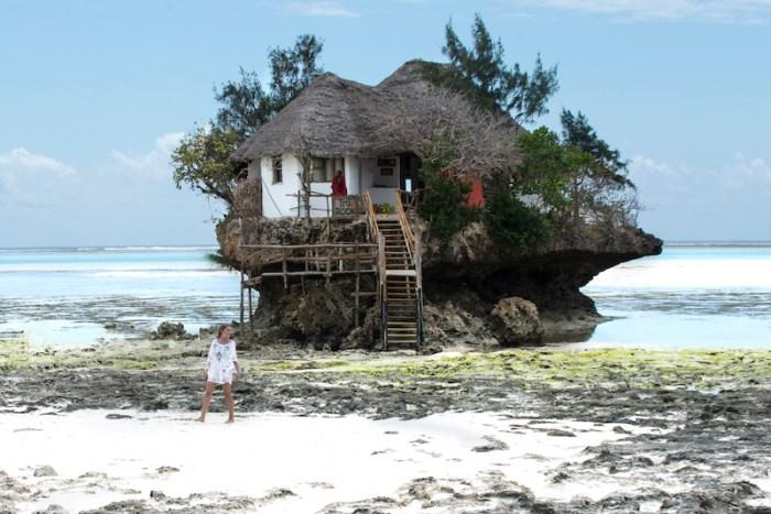 Restaurante The Rock em Zanzibar