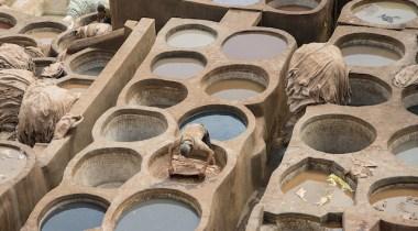 curtumes em Fez no Marrocos