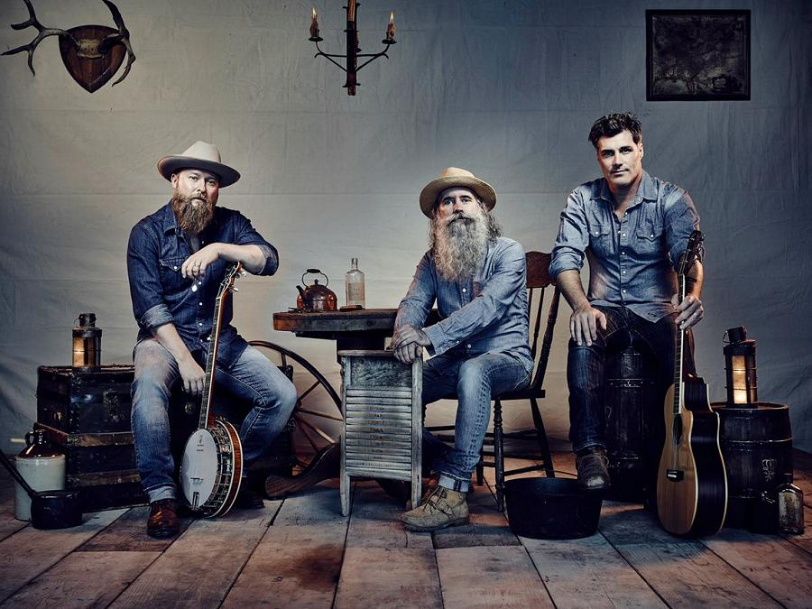 Three Men And A Washboard With A Guitar And Banjo For