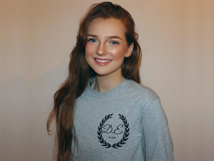 Young entrepreneur Brigh Findlay-Shields used her competitive spirit to launch her Summer Company online business, Darling Equine, in 2015 when she was only 16 years old. The business started selling bridle charms and has now expanded to selling apparel and accessories through Shopify and Etsy. (Photo courtesy of Brigh Findlay-Shields)