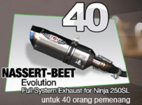 hadiah langsung knalpot racing beli Ninja 250SL