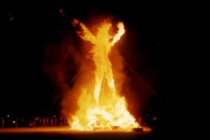 Burning Man effigy, Black Rock City, Nevada