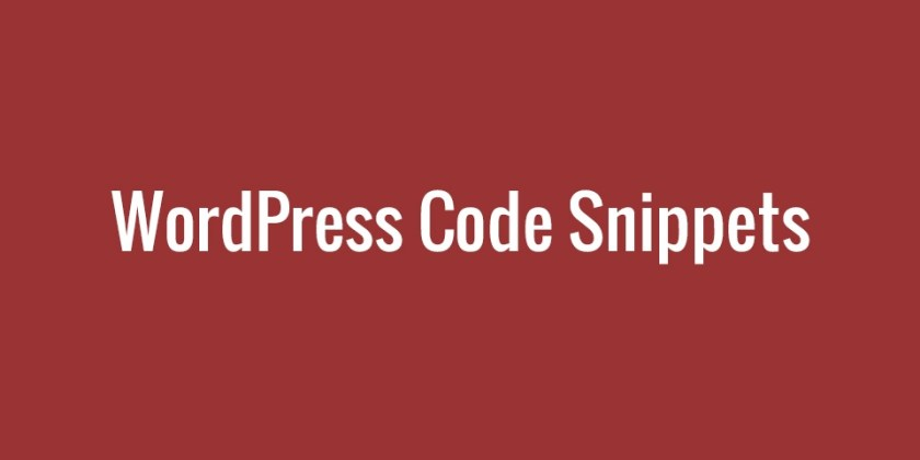 WP Code Snippets