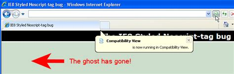 IE8 Noscript Ghost gone
