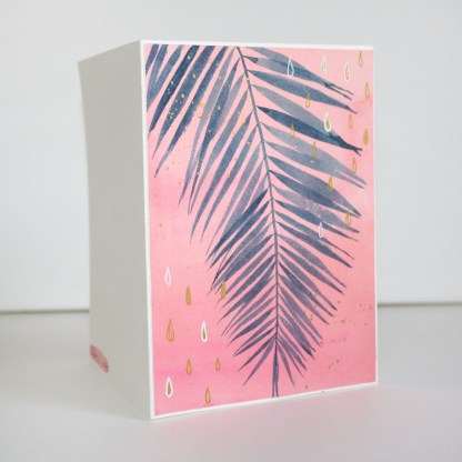 Watercolor Card Tropical Sunset