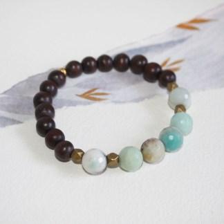 amazonite-brass-beads-wood-stretch-bracelet-2