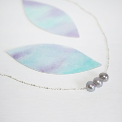 3 Freshwater Pearls Necklace