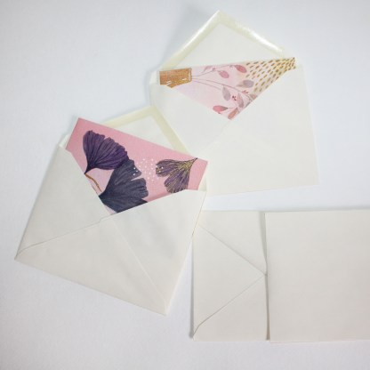 watercolor card envelope