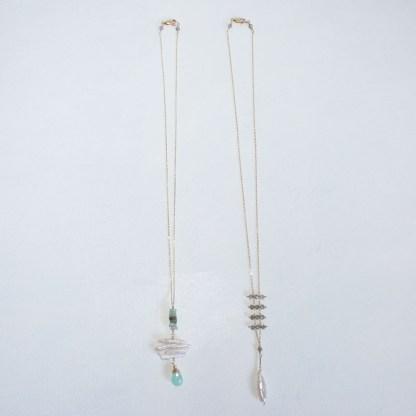 Peruvian Chalcedony and Aquamarine Necklace6