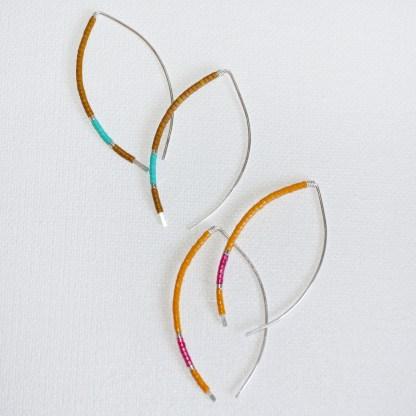 Sterling Silver Arc Threader Earrings
