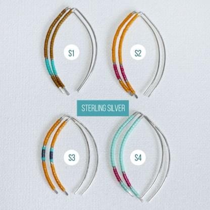 14K Gold Fill Arc Threader Earrings