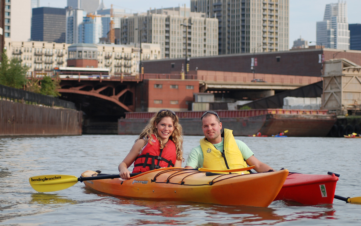 kayak on chicago river