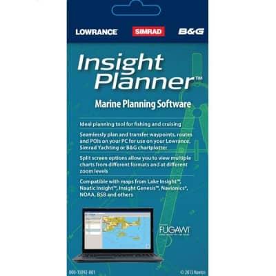 Lowrance Insight Planner Marine Planning Software Waypoint Management