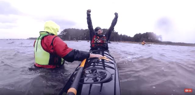 kayak action camera footage