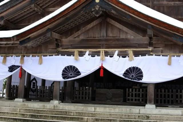 美保神社、拝殿