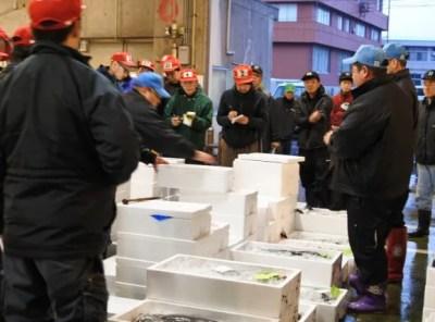 境港魚市場 大漁