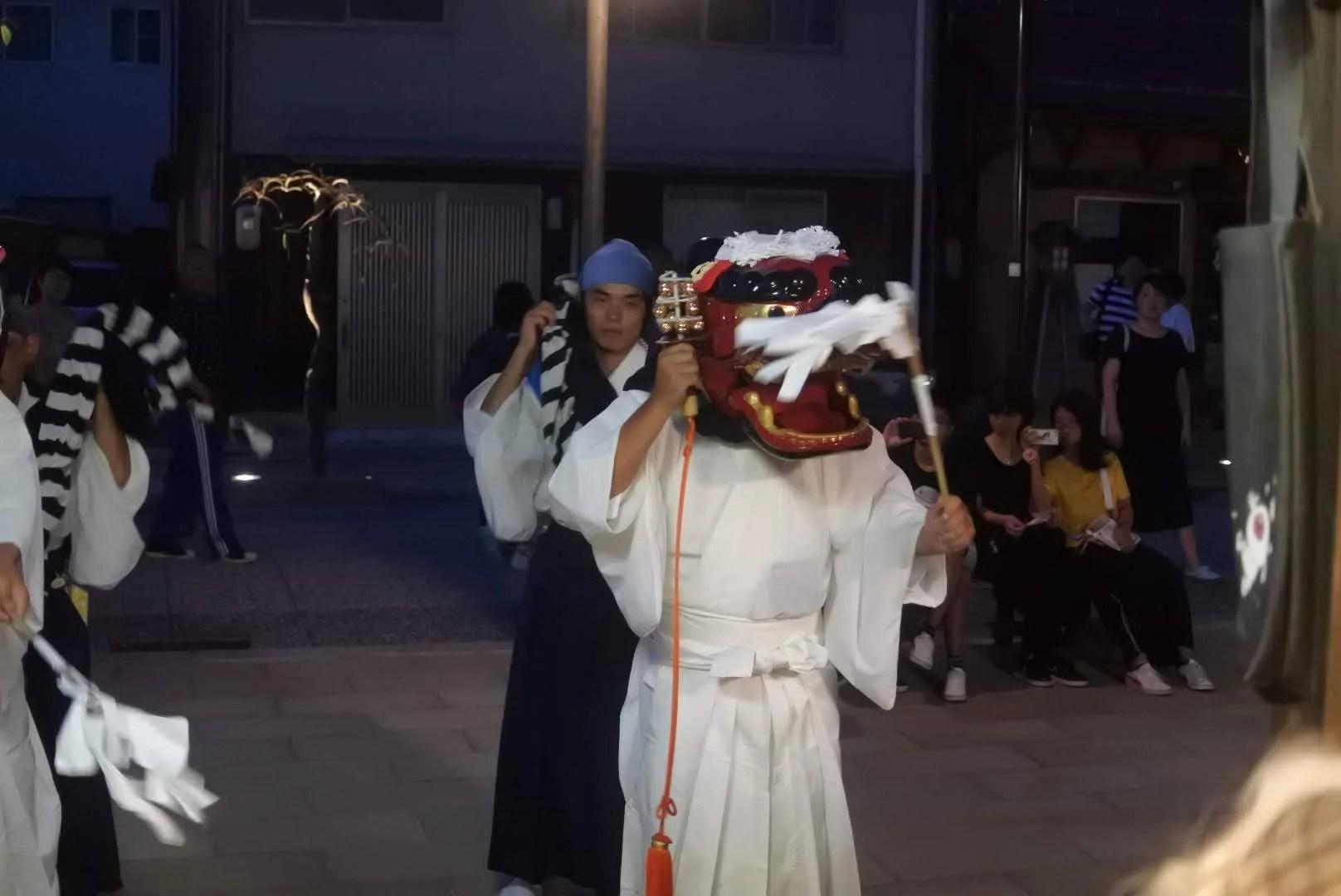 水木ロード 妖怪茶屋 獅子舞
