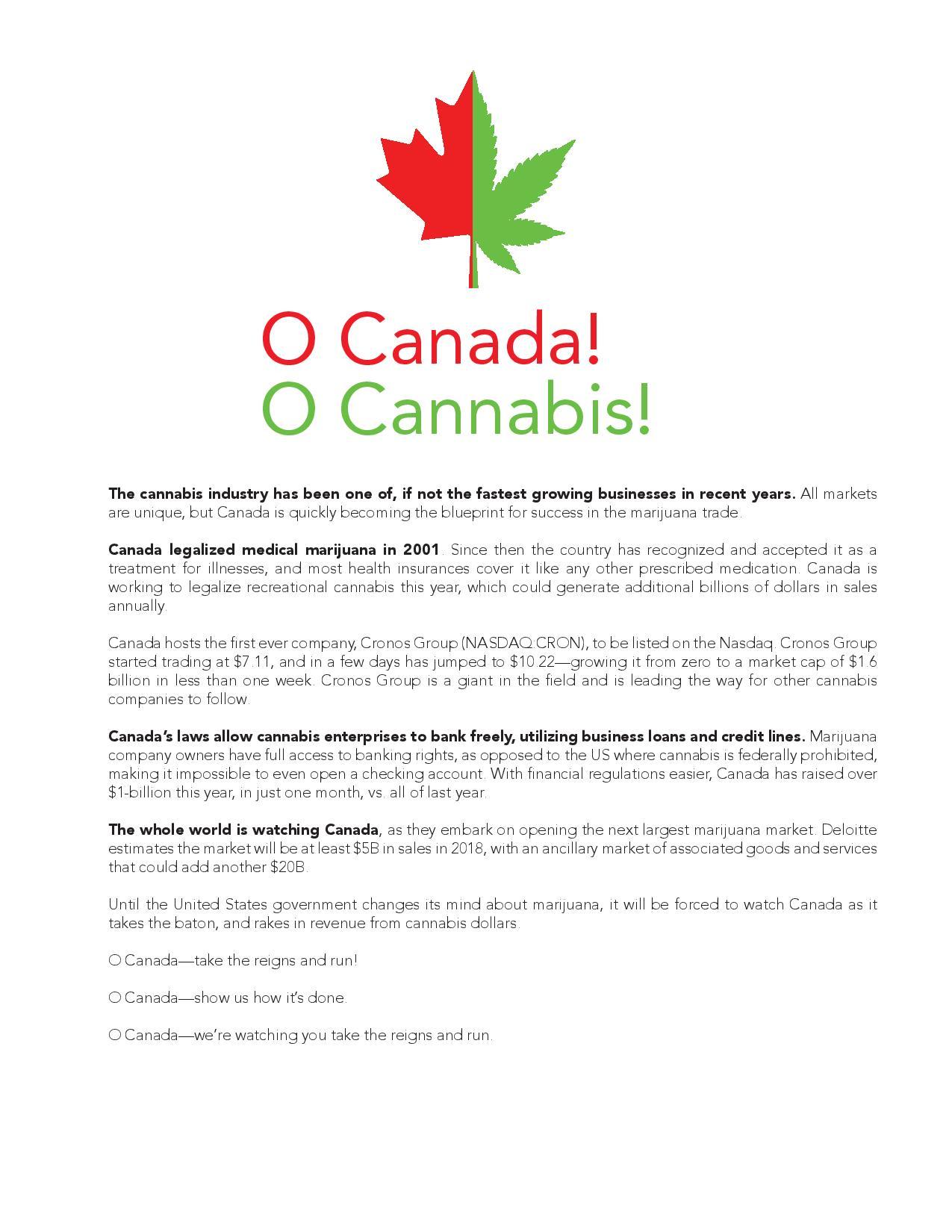 O Canada - O Cannabis - Cannabis Packaging