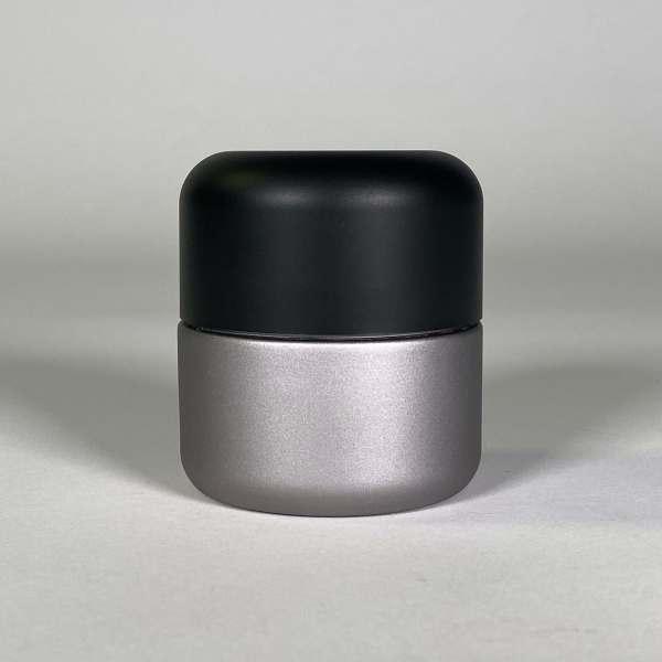 Silver Body Black Top Cannabis Packaging