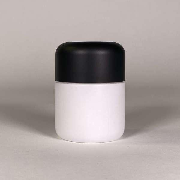 White Body Black Top Cannabis Packaging