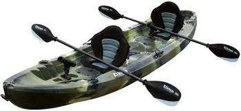 Elkton Outdoors 12.2 Foot Sit On Top Tandem Fishing Kayak
