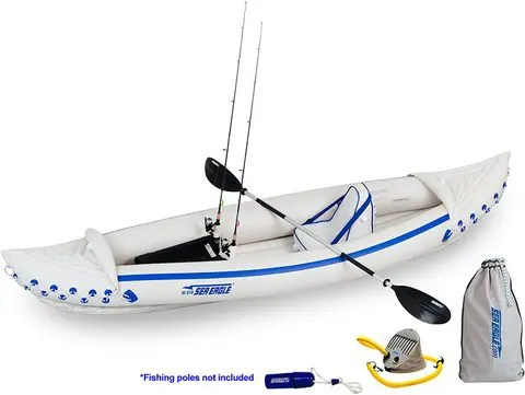Sea Eagle SE370 Inflatable Sports Kayak for Fishing