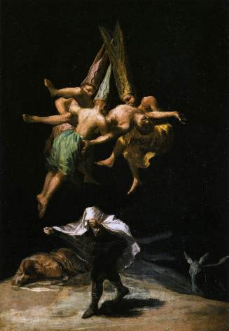 """Painting - """"Witches' Flight"""" (Goya, 1798)"""