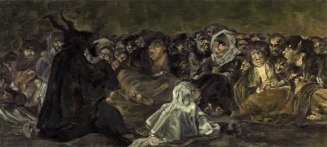"""Painting - """"Witches' Sabbath"""" (Goya, 1823)"""