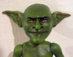 OOAK ball jointed goblin doll by Kay De Garay