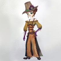 Steampunk Character Drawing by Kay De Garay