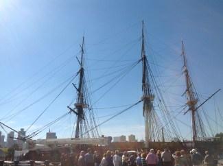 Old Ironside in Boston Harbor