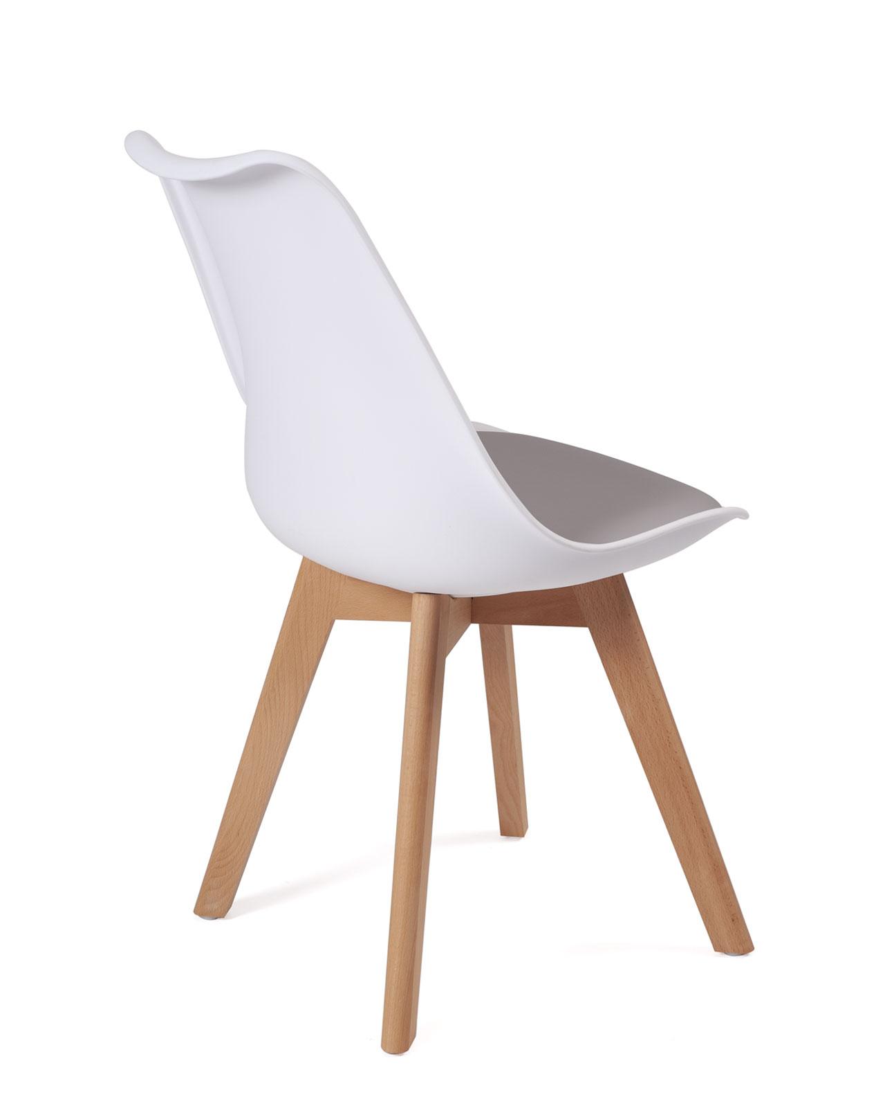 chaise scandinave avec coussin lao lot de 2