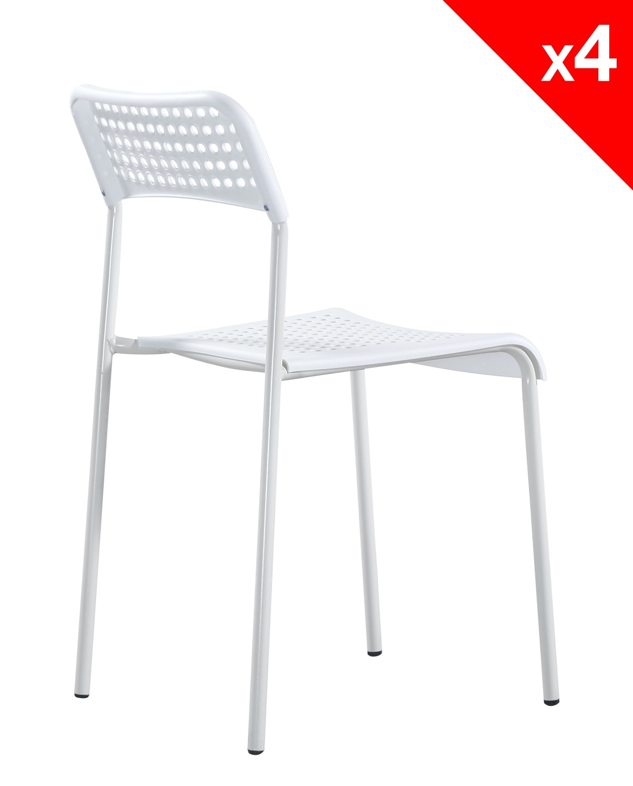 lot de 4 chaises empilables echo