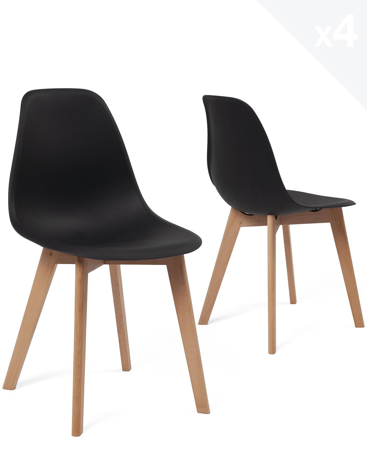 lot de 4 chaises scandinaves design nao