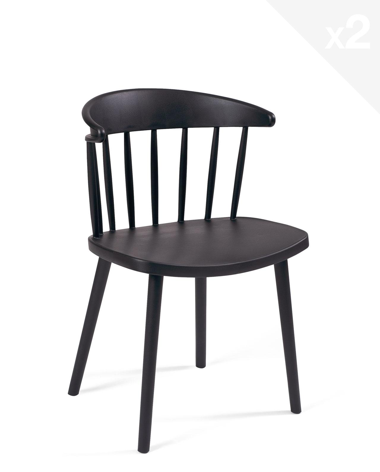 lot de 2 chaises de cuisine windsor dia