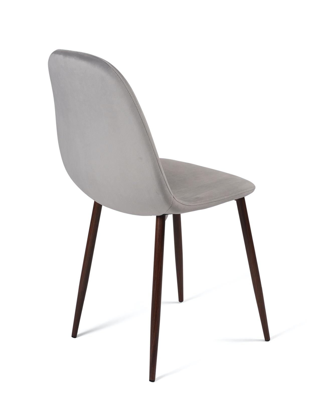 lot de 4 chaises design velours nova