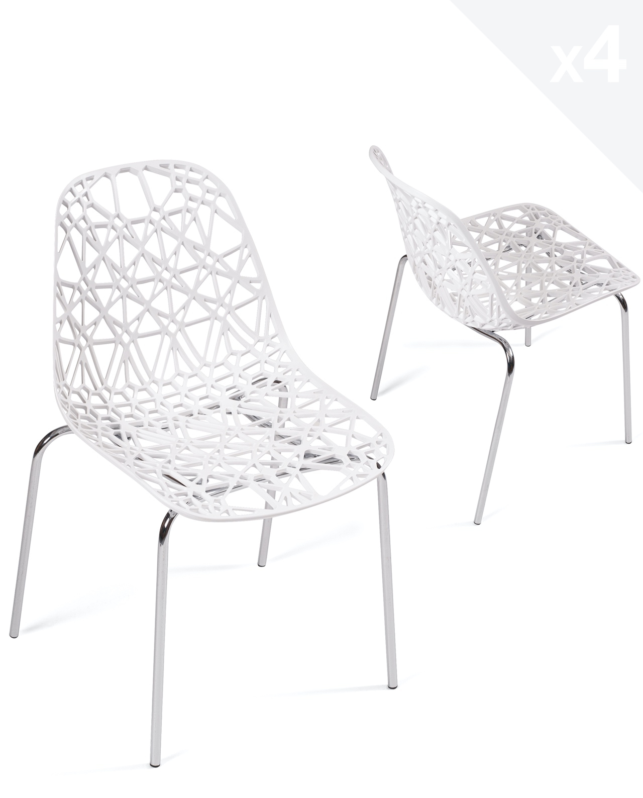lot de 4 chaises de cuisine design iko