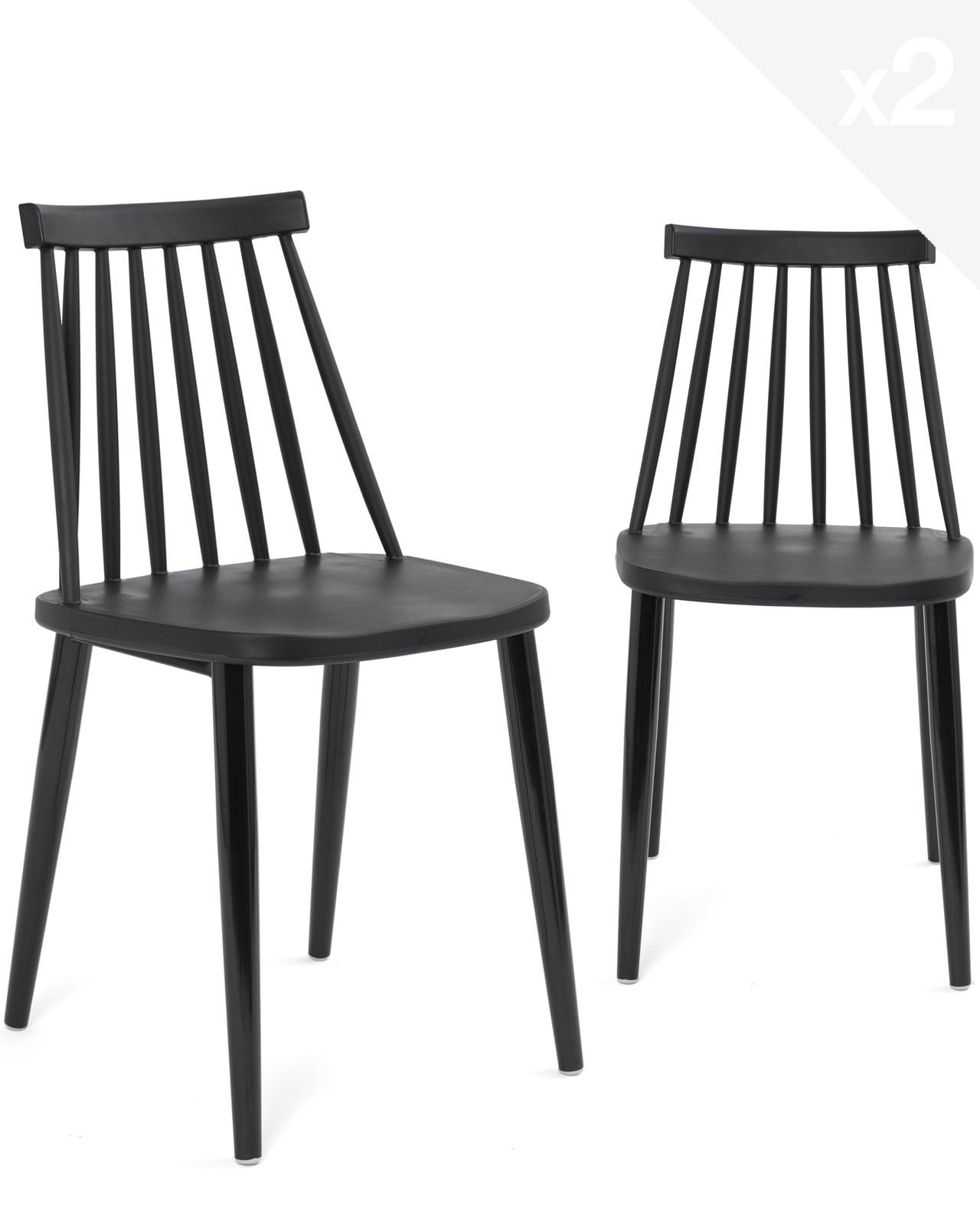 chaise de cuisine bistrot bao lot de 2