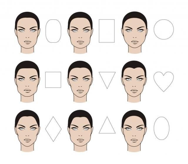 اشكال وجه المرأة - مكياج كونتور الوجه