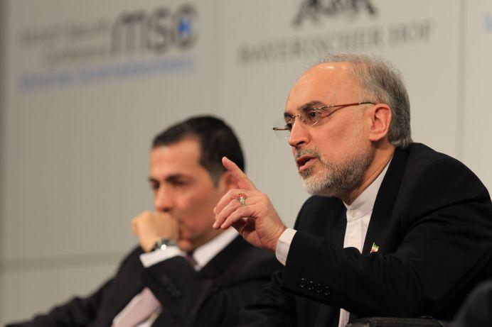 Head of the Iranian Atomic Energy Organization Ali Akbar Salehi. REUTERS/Leonhard Foeger