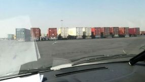 A nationwide strike by Iranian truck drivers. Source: Kayhan London
